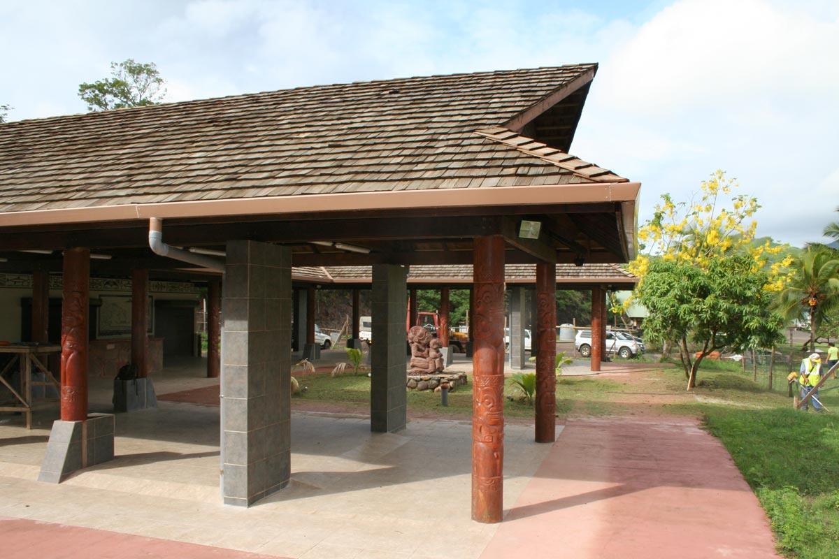 Architecture Marché couvert de Taiohae Polynésie