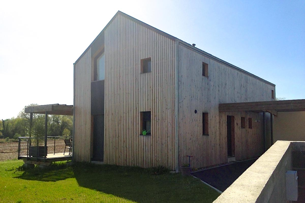 Villa bioclimatique ossature bois à Lee (64)