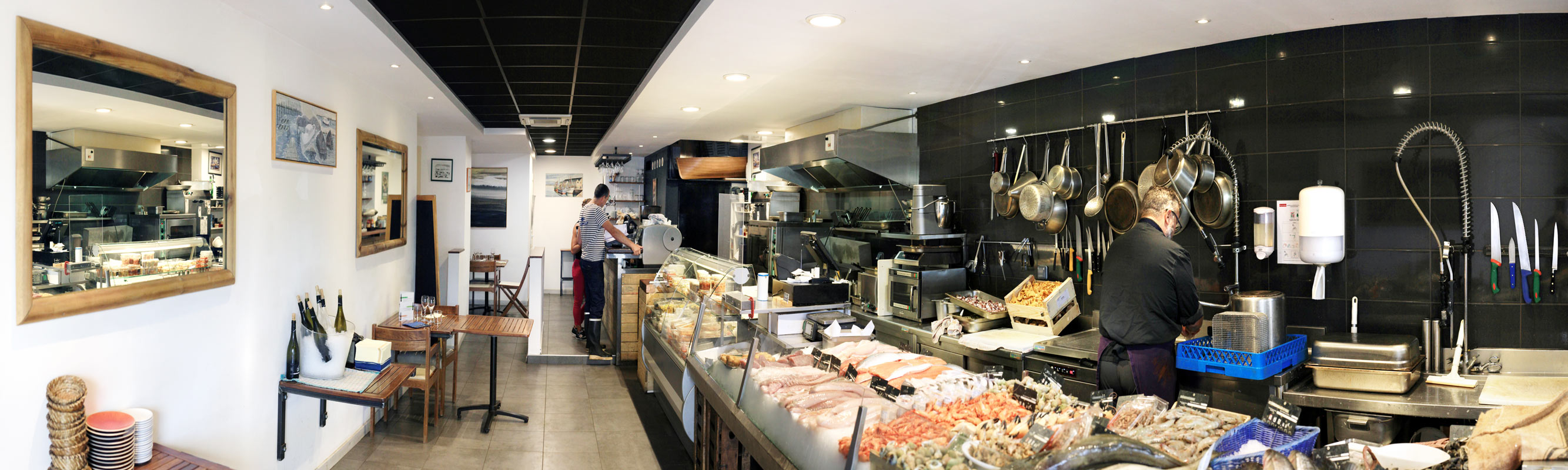 Architecture  intérieure pro – Poissonnerie bar à huitres à Nay (64)