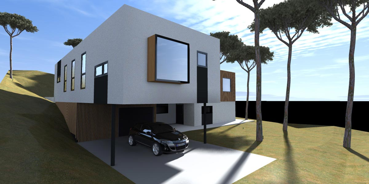 D architecture r sidence secondaire a hossegor for Architecte hossegor
